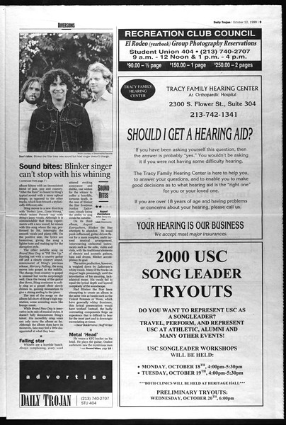 Daily Trojan, Vol. 138, No. 30, October 12, 1999