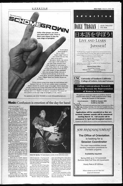 Daily Trojan, Vol. 145, No. 38, March 06, 2002