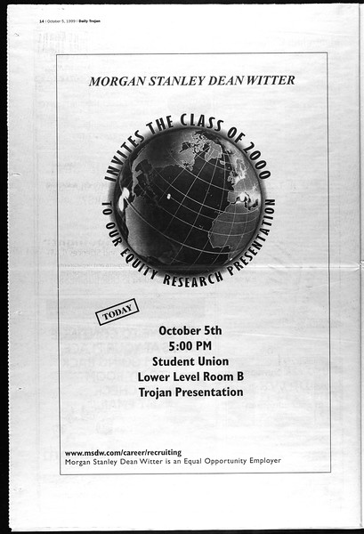 Daily Trojan, Vol. 138, No. 25, October 05, 1999