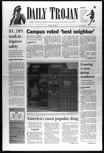 Daily Trojan, Vol. 159, No. 5, August 25, 2006