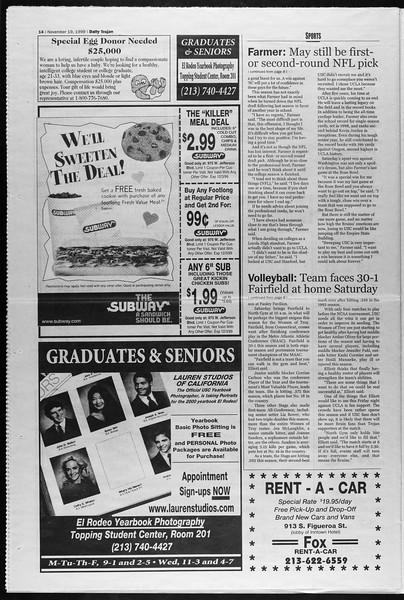 Daily Trojan, Vol. 138, No. 57, November 19, 1999