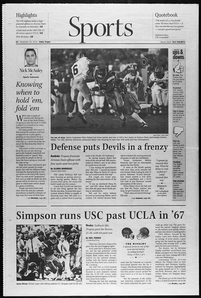 Daily Trojan, Vol. 147, No. 59, November 19, 2002