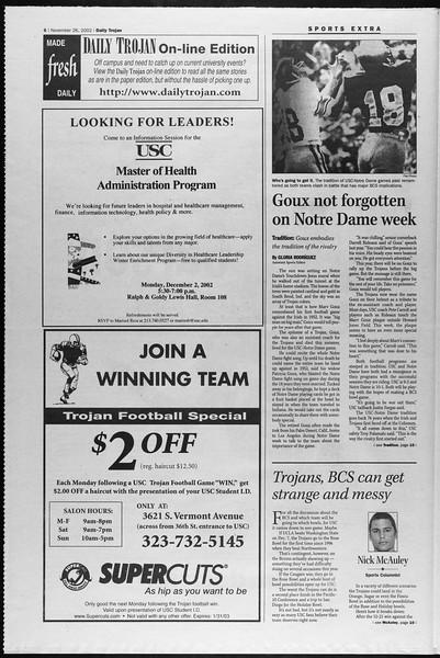 Daily Trojan, Vol. 147, No. 64, November 26, 2002