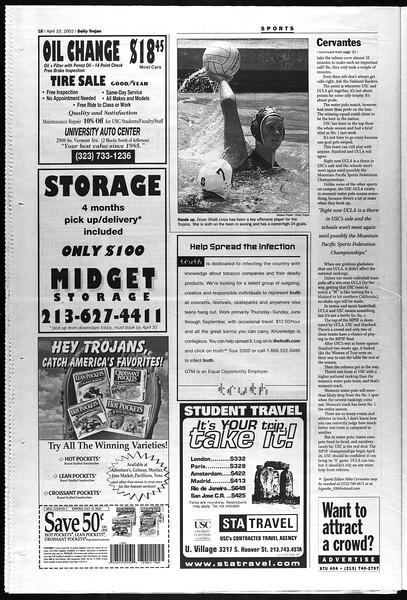 Daily Trojan, Vol. 145, No. 56, April 10, 2002