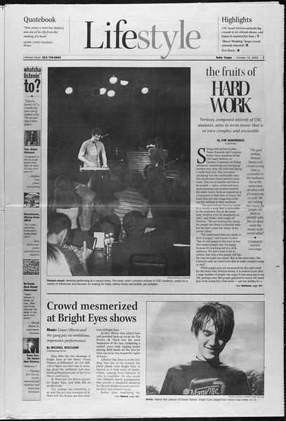 Daily Trojan, Vol. 147, No. 35, October 15, 2002