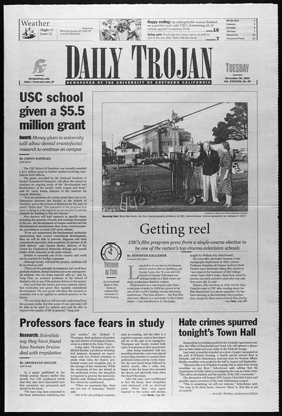 Daily Trojan, Vol. 138, No. 60, November 30, 1999