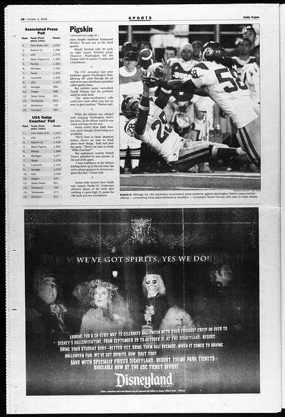 Daily Trojan, Vol. 159, No. 30, October 03, 2006