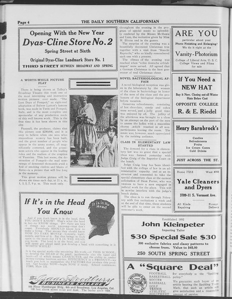 The Daily Southern Californian, Vol. 3, No. 56, January 06, 1914