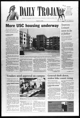 Daily Trojan, Vol. 159, No. 9, August 31, 2006
