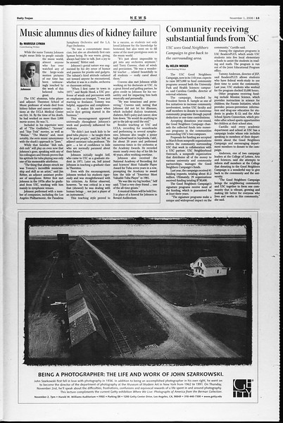 Daily Trojan, Vol. 159, No. 51, November 01, 2006