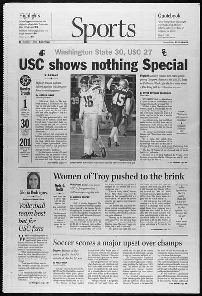 Daily Trojan, Vol. 147, No. 29, October 07, 2002