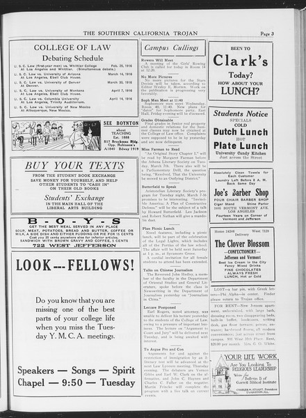 The Southern California Trojan, Vol. 7, No. 78, March 01, 1916