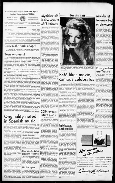 Daily Trojan, Vol. 36, No. 108, April 25, 1945