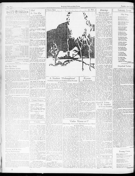 Daily Trojan, Vol. 25, No. 115, April 17, 1934