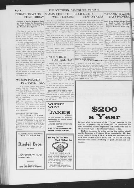 The Southern California Trojan, Vol. 7, No. 45, December 07, 1915
