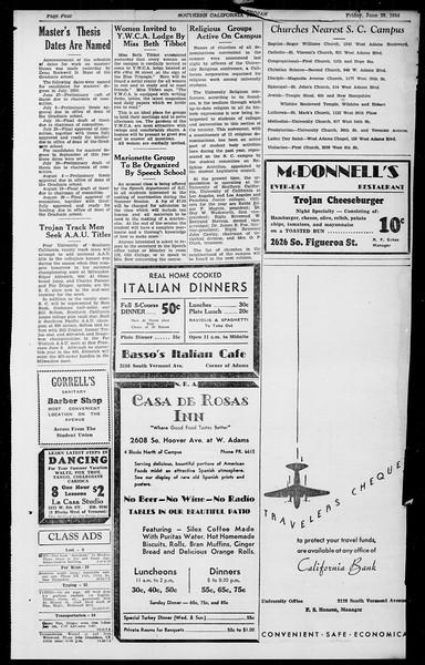 Southern California Trojan, Vol. 13, No. 4, June 29, 1934