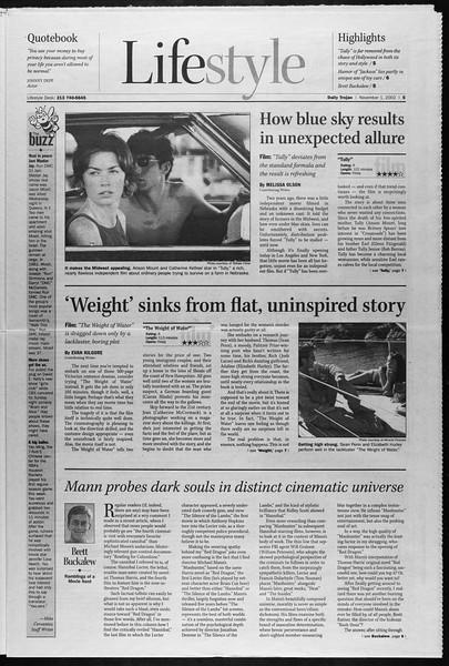 Daily Trojan, Vol. 147, No. 48, November 01, 2002