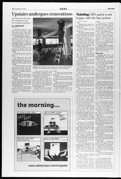 Daily Trojan, Vol. 159, No. 19, September 18, 2006