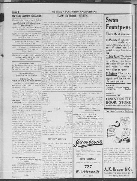 The Daily Southern Californian, Vol. 3, No. 27, October 28, 1913
