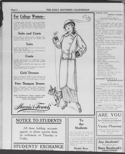 The Daily Southern Californian, Vol. 3, No. 6, September 19, 1913