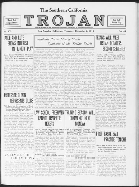 The Southern California Trojan, Vol. 7, No. 43, December 02, 1915