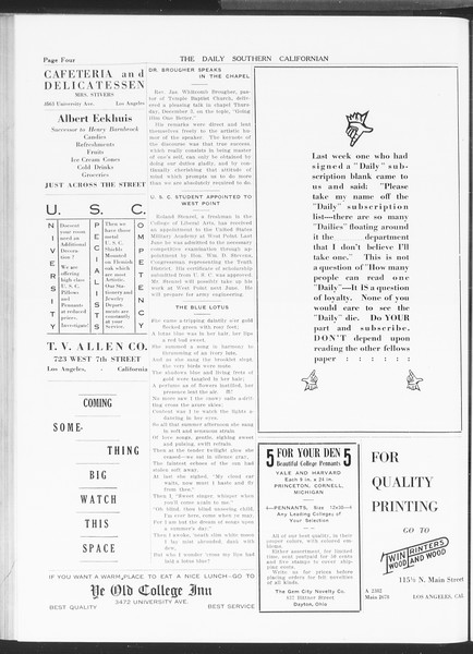 The Daily Southern Californian, Vol. 5, No. 43, December 08, 1914