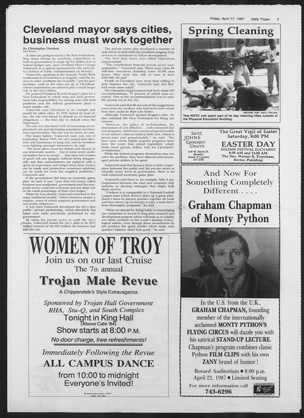 Daily Trojan, Vol. 103, No. 61, April 17, 1987