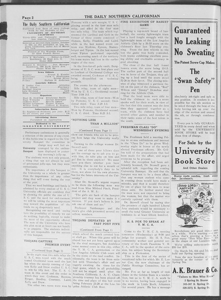 The Daily Southern Californian, Vol. 4, No. 5, February 17, 1914
