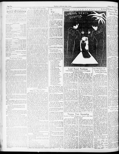 Daily Trojan, Vol. 25, No. 103, March 23, 1934