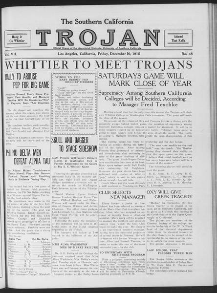 The Southern California Trojan, Vol. 7, No. 48, December 10, 1915