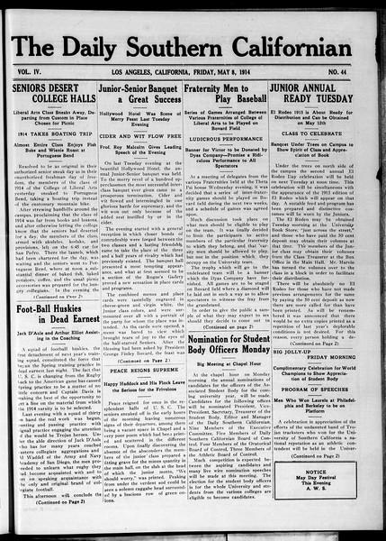 The Daily Southern Californian, Vol. 4, No. 44, May 08, 1914
