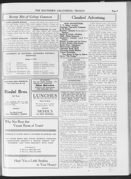 The Southern California Trojan, Vol. 7, No. 22, October 22, 1915