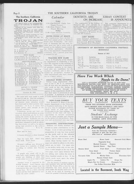 The Southern California Trojan, Vol. 7, No. 21, October 21, 1915