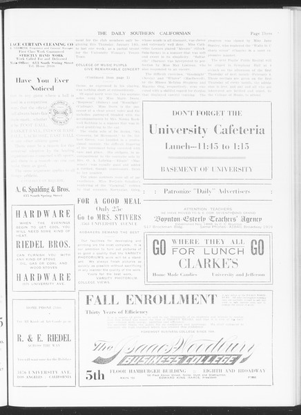 The Daily Southern Californian, Vol. 5, No. 50, January 12, 1915