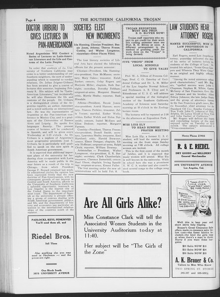 The Southern California Trojan, Vol. 7, No. 66, February 04, 1916