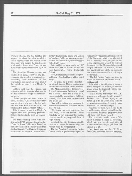 SoCal, Vol. 76, No. 54, May 07, 1979