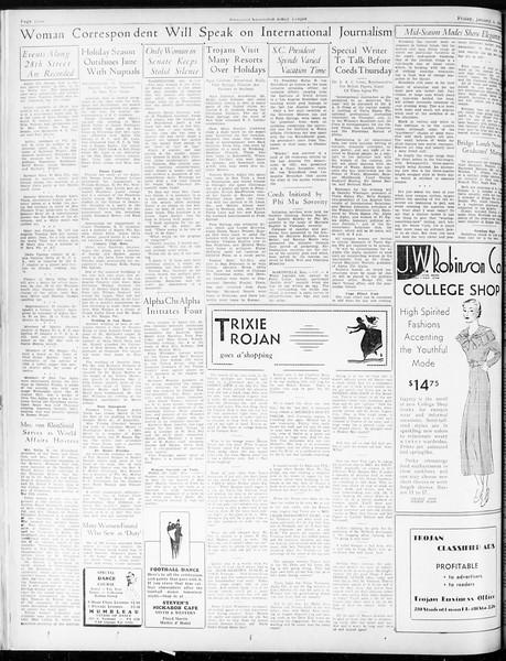 Daily Trojan, Vol. 25, No. 57, January 05, 1934