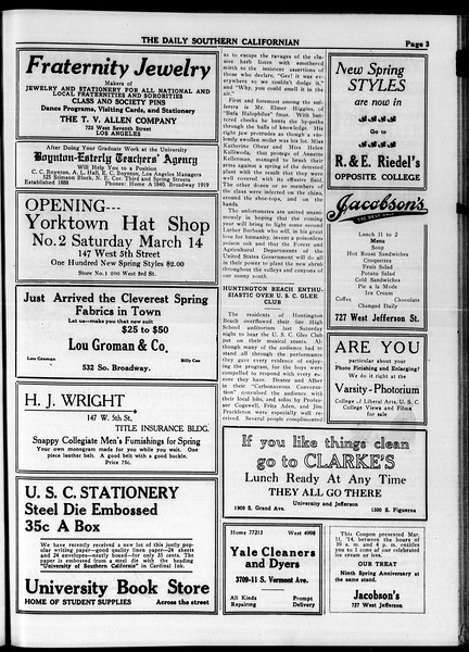 The Daily Southern Californian, Vol. 4, No. 18, March 11, 1914