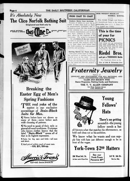 The Daily Southern Californian, Vol. 4, No. 31, April 10, 1914
