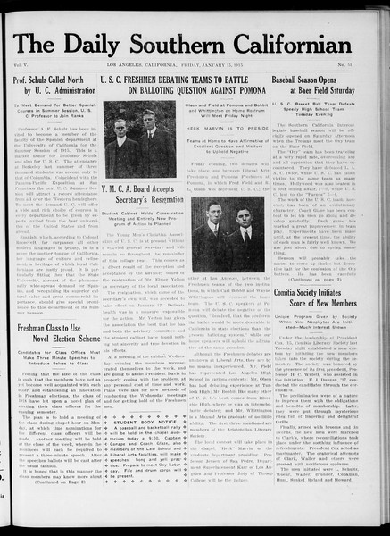 The Daily Southern Californian, Vol. 5, No. 51, January 15, 1915