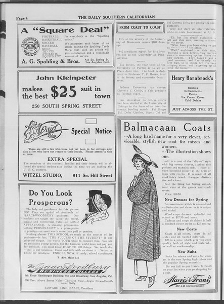 The Daily Southern Californian, Vol. 4, No. 6, February 18, 1914