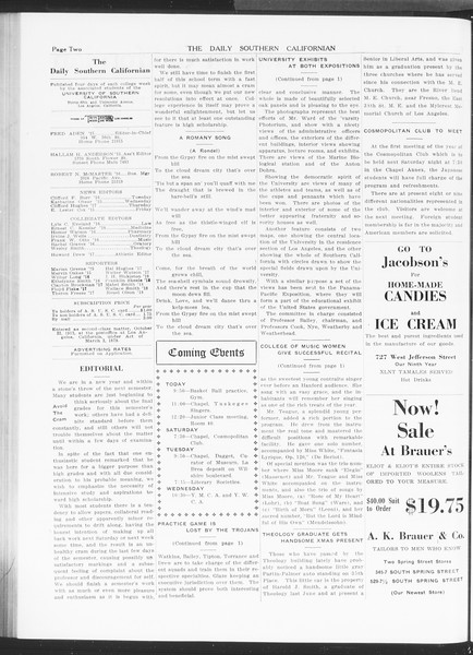 The Daily Southern Californian, Vol. 5, No. 49, January 08, 1915