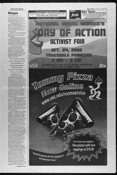 Daily Trojan, Vol. 147, No. 42, October 24, 2002