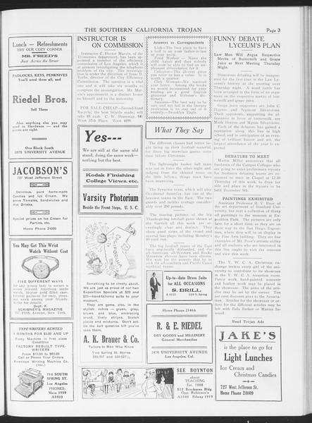 The Southern California Trojan, Vol. 7, No. 42, December 01, 1915