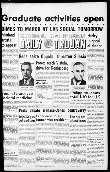 Daily Trojan, Vol. 36, No. 54, January 25, 1945