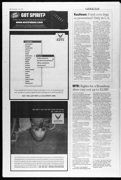 Daily Trojan, Vol. 159, No. 15, September 12, 2006