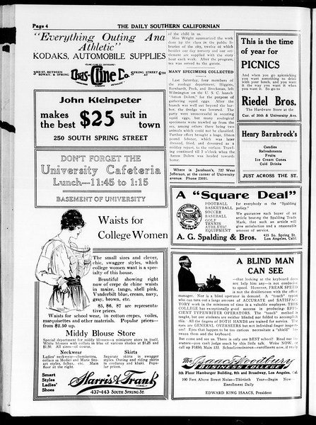 The Daily Southern Californian, Vol. 4, No. 24, March 20, 1914