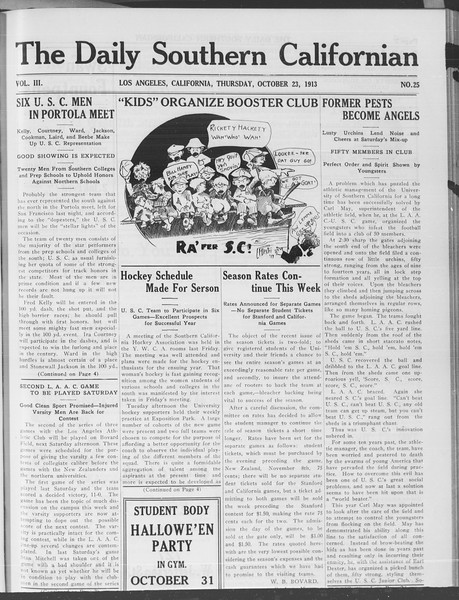 The Daily Southern Californian, Vol. 3, No. 25, October 23, 1913