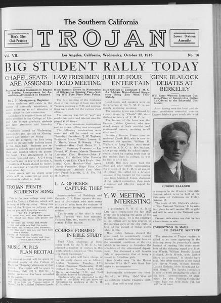 The Southern California Trojan, Vol. 7, No. 16, October 13, 1915