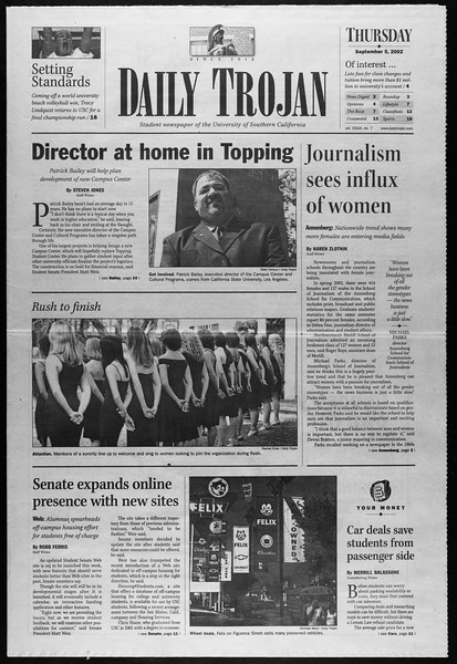 Daily Trojan, Vol. 147, No. 7, September 05, 2002